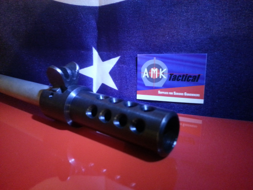 Custom Blued Carbon Steel Ruger Mini 14/30 580 Series Muzzle Brake