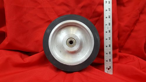 "8"" x 2"" Solid Rubber Contact Wheel with 1/2"" Bearings for 2x72 Grinder"